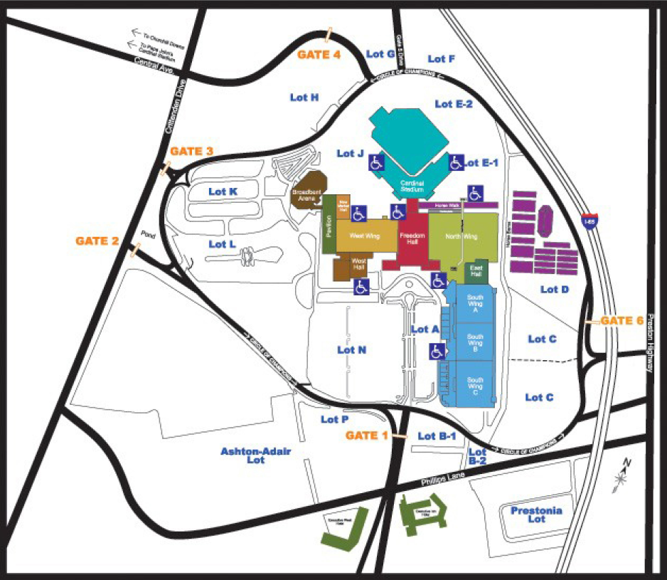 KY Expo Center Map  Beezerfest 2018